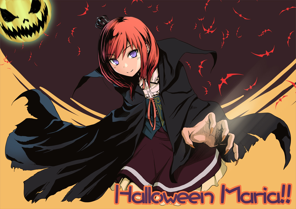 crown dress halloween konoe_(vis9191) moon purple_eyes umineko_no_naku_koro_ni ushiromiya_maria