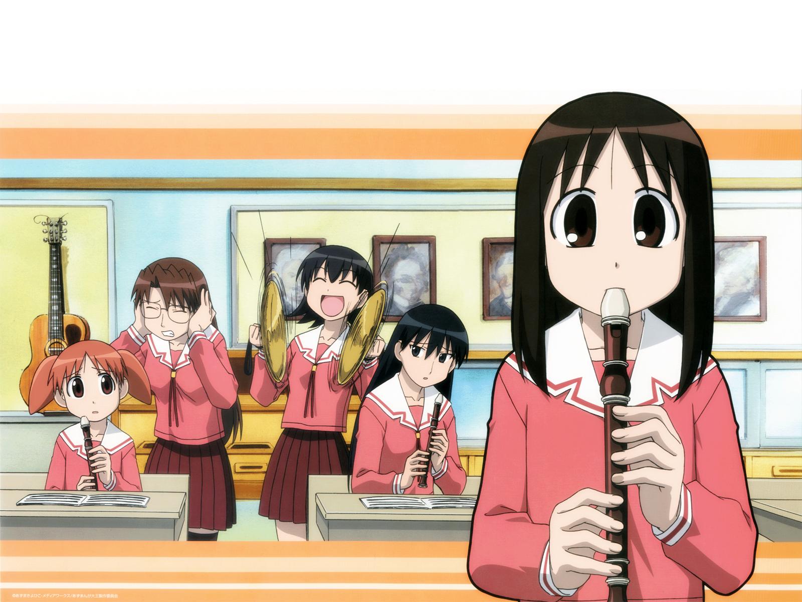 azumanga_daioh kasuga_ayumu mihama_chiyo mizuhara_koyomi sakaki takino_tomo