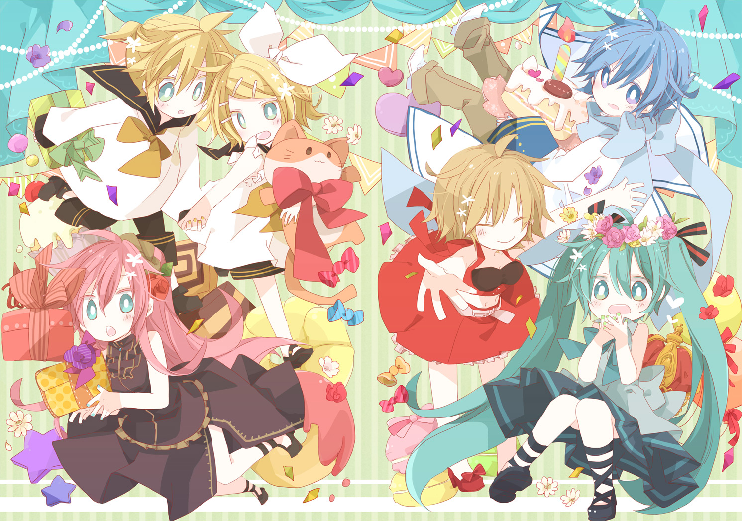 Vocaloid Wallpaper Rin cake food group...