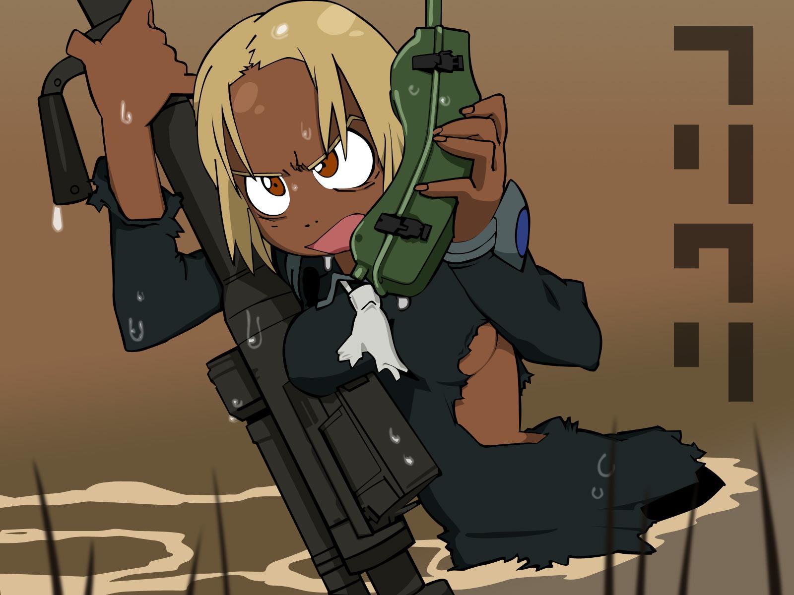 brown flcl gun kitsurubami phone water weapon