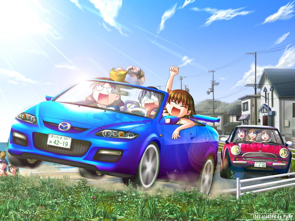 azumanga_daioh chibi kagura kasuga_ayumu kurosawa_minamo mihama_chiyo mizuhara_koyomi sakaki takino_tomo tanizaki_yukari