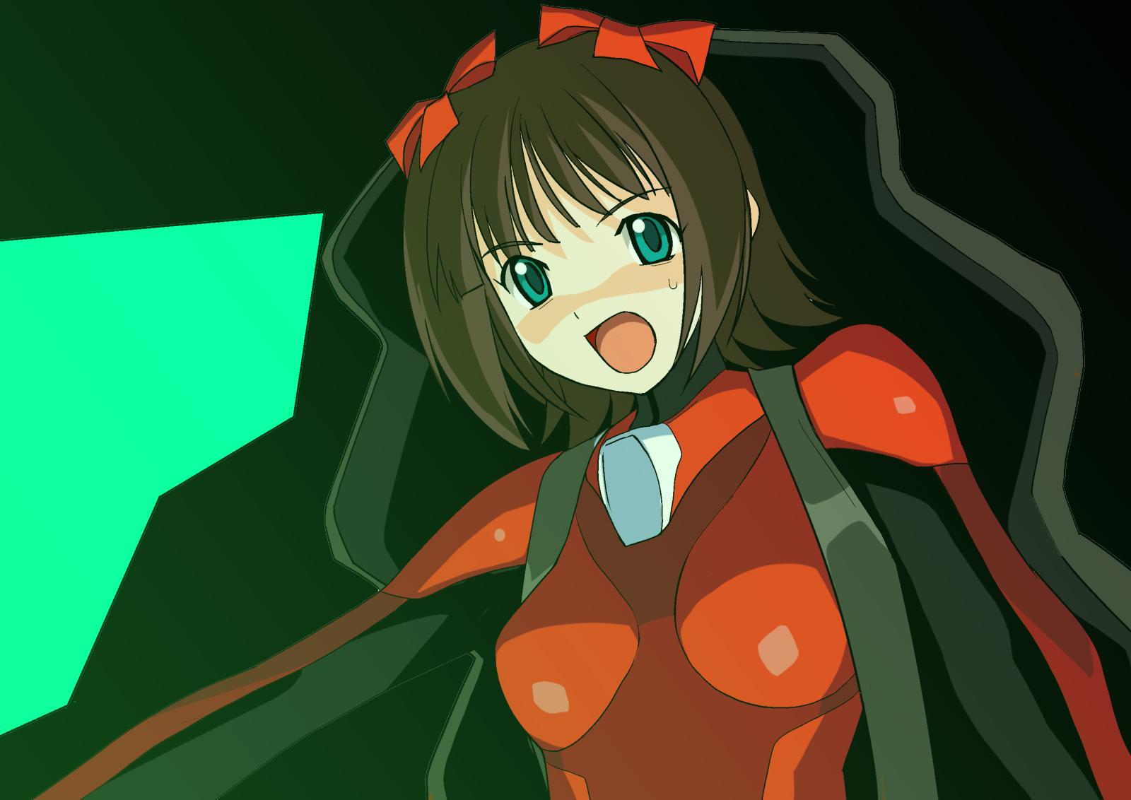 amami_haruka cosplay idolmaster initial-g neon_genesis_evangelion