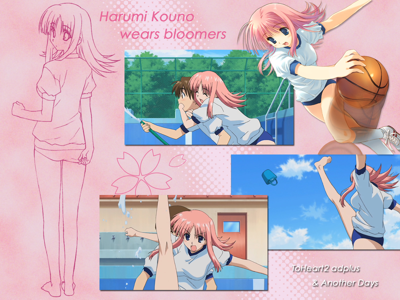 aquaplus bloomers gym_uniform kouno_harumi leaf mitsumi_misato to_heart to_heart_2 to_heart_2_another_days