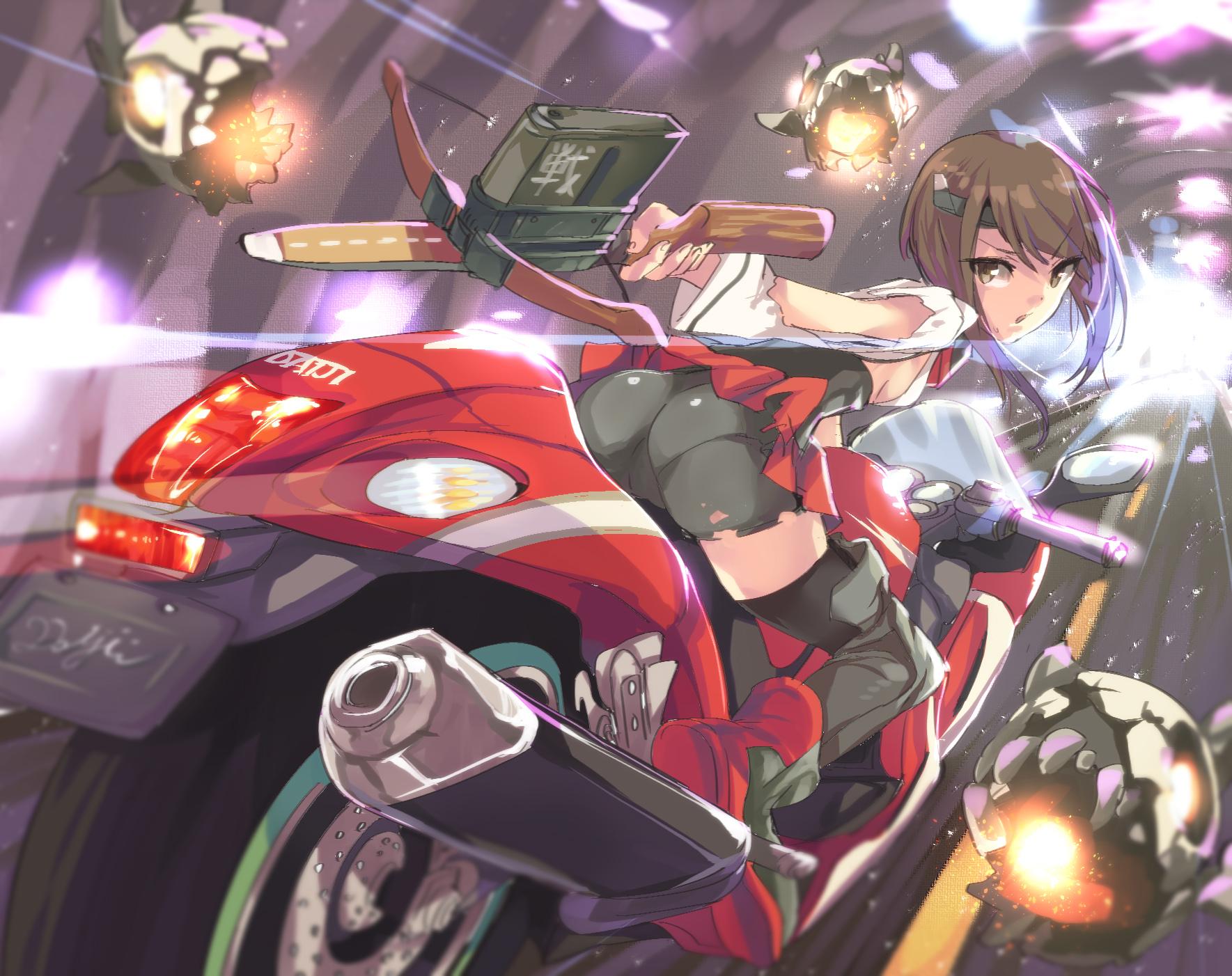 Anthropomorphism Ass Kantai Collection Motorcycle Satou Daiji Taihou Kancolle Thighhighs Weapon Konachan Com Konachan Com Anime Wallpapers