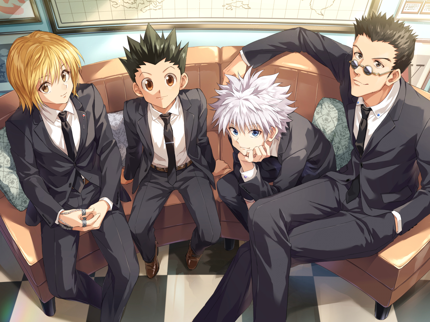 aliasing all_male gon_freeces hunter_x_hunter killua_zaoldyeck kurapika leorio_paladiknight male zattape