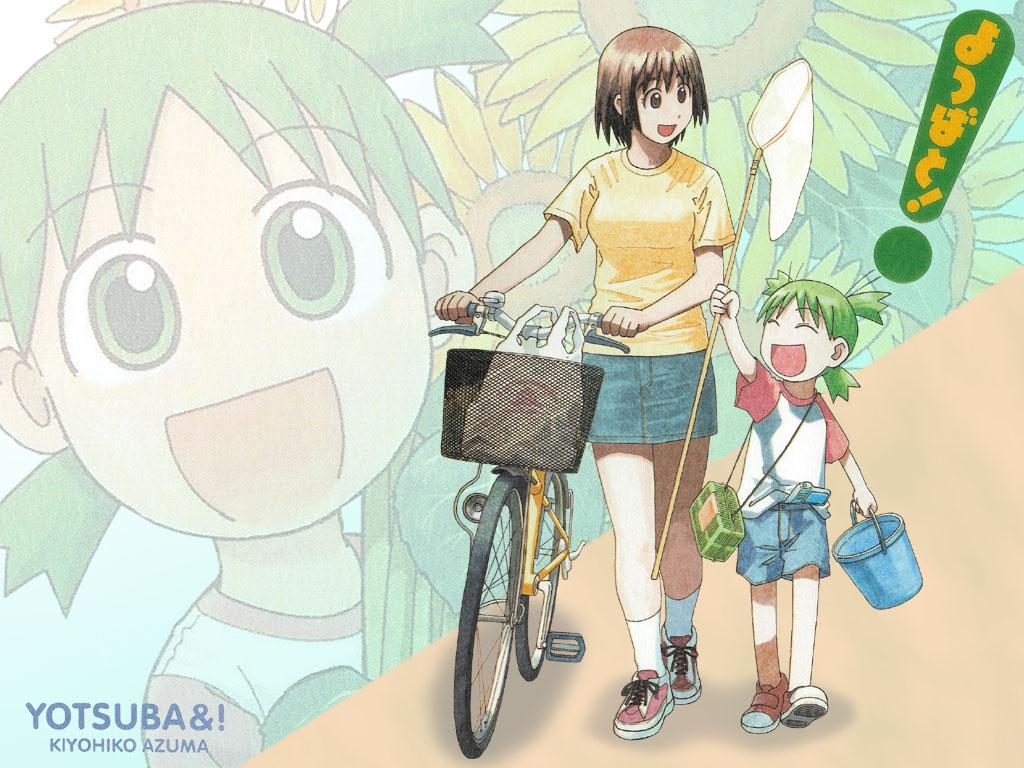 ayase_fuuka azuma_kiyohiko bicycle koiwai_yotsuba yotsubato!