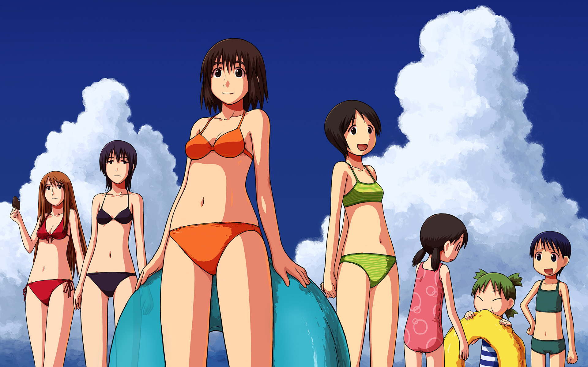 ayase_asagi ayase_ena ayase_fuuka bikini group hiwatari koiwai_yotsuba miura_hayasaka swimsuit torako yotsubato!