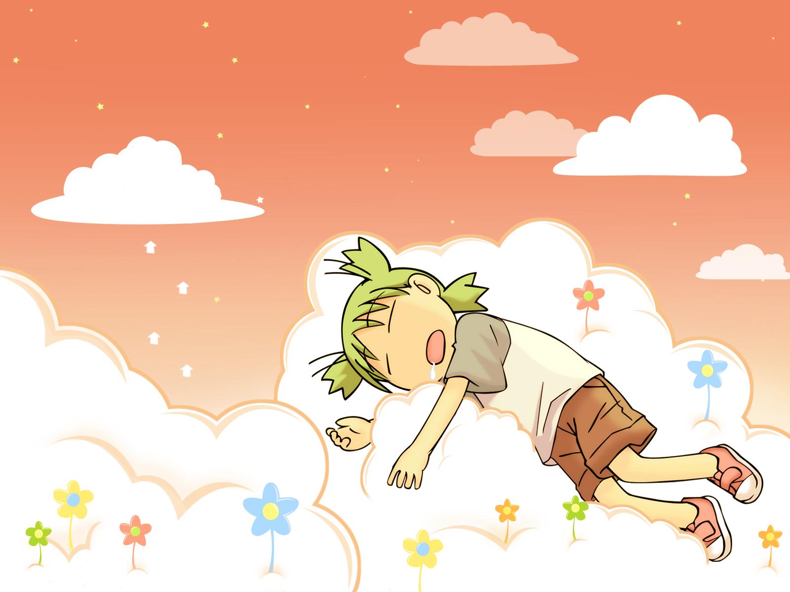 koiwai_yotsuba orange sleeping sunset yotsubato!