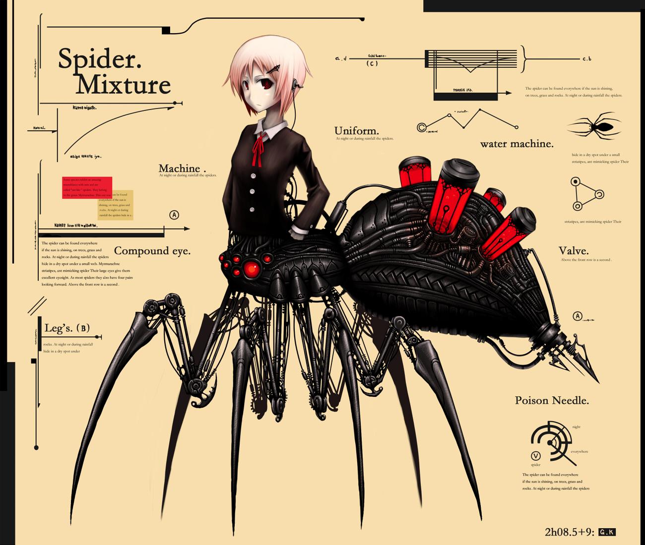 anthropomorphism gia original pink_hair red_eyes robot short_hair