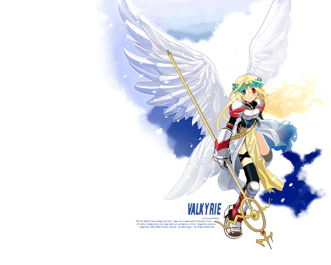 bicolored_eyes milktea ragnarok_online staff wings