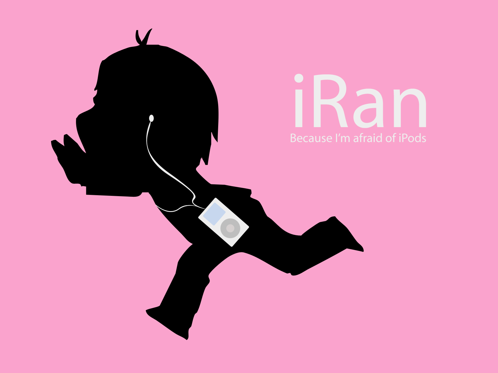 ipod pink silhouette tagme