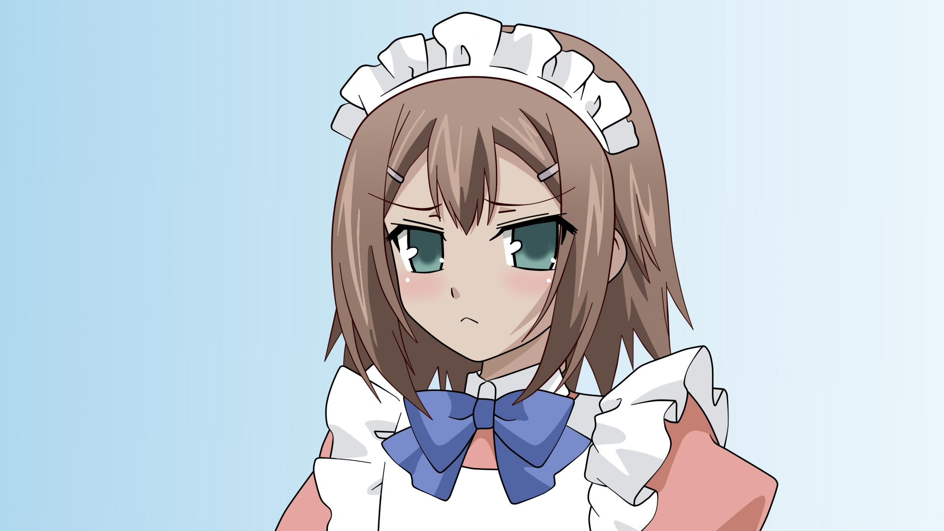 baka_to_test_to_shoukanjuu blush kinoshita_hideyoshi maid trap vector