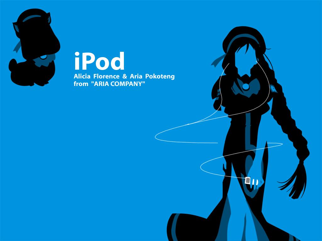 alicia_florence aria aria_pokoteng blue ipod parody silhouette