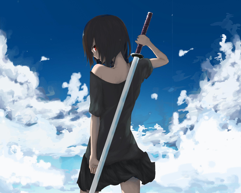 Female a listango konachan 127568 blackhair katana la na redeyes skirt sky sword tagme weapong 24801984 voltagebd Gallery