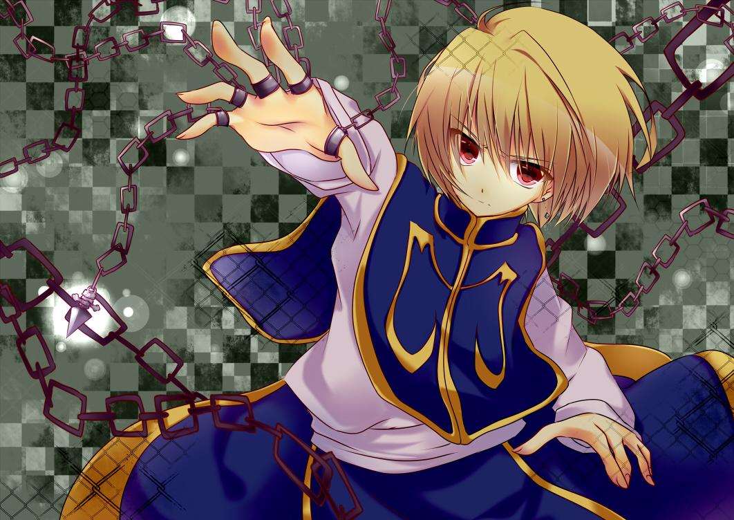 blonde_hair chain hunter_x_hunter kurapica red_eyes short_hair umi_no_mizu weapon