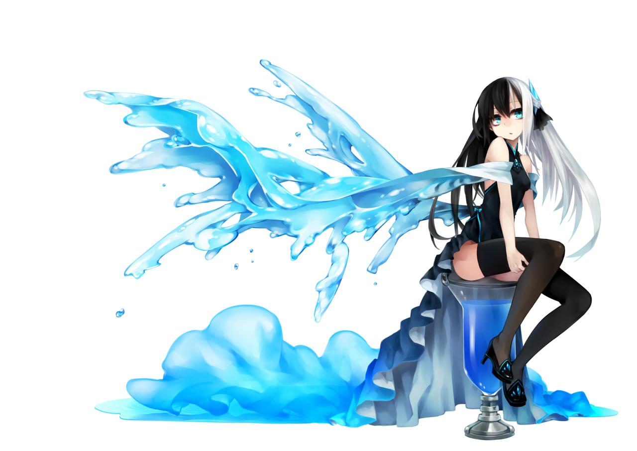 Black Hair Blue Eyes Dress Kaida Michi Norah Bright