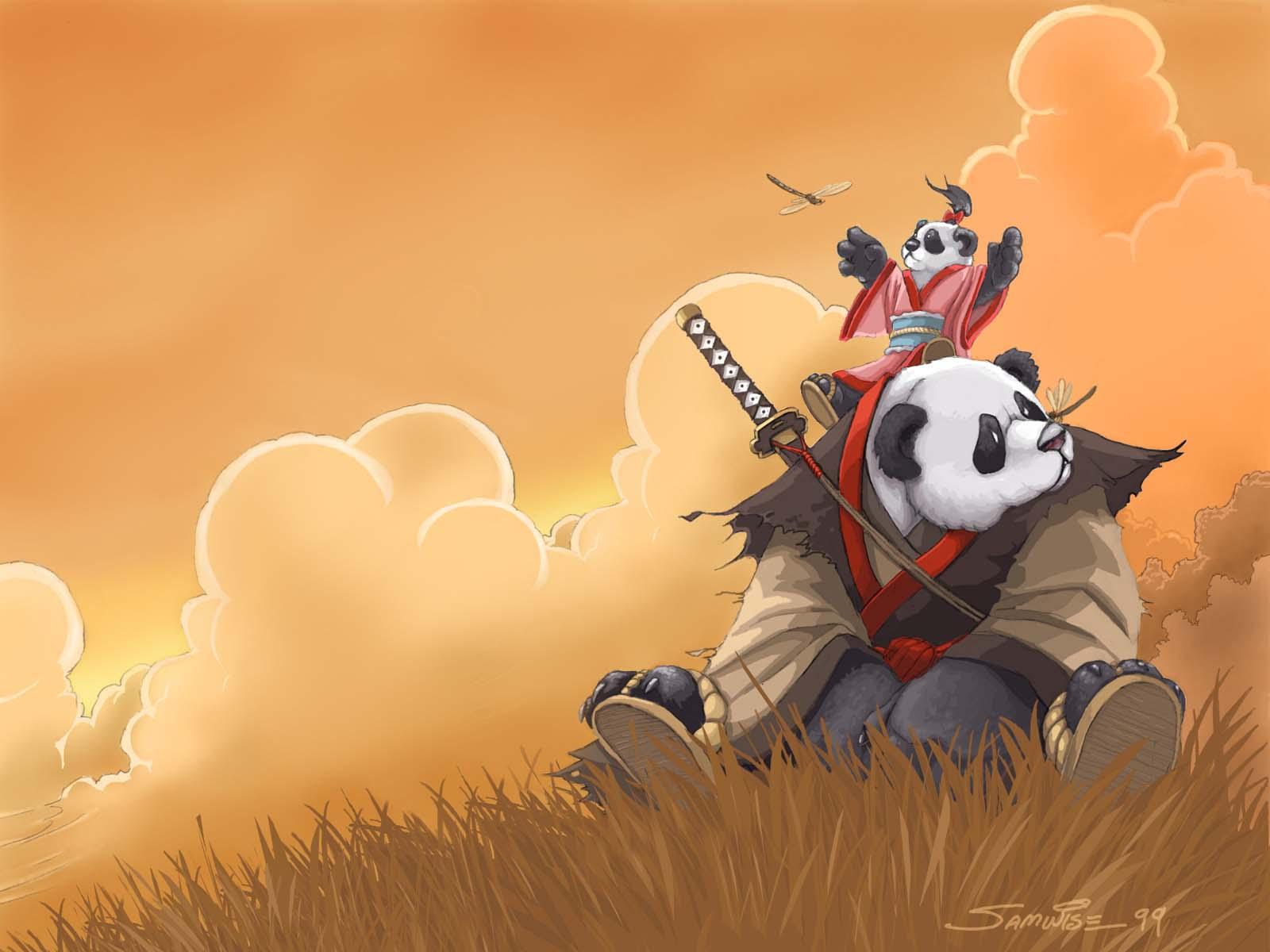 animal bear orange panda samwise_didier sword weapon world_of_warcraft