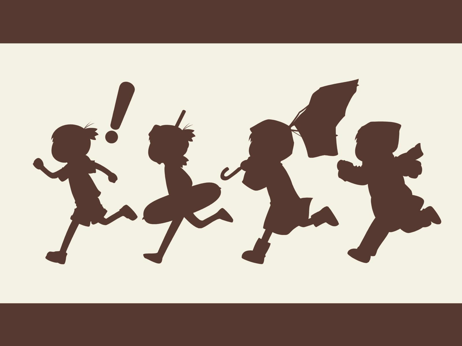 brown koiwai_yotsuba silhouette yotsubato!