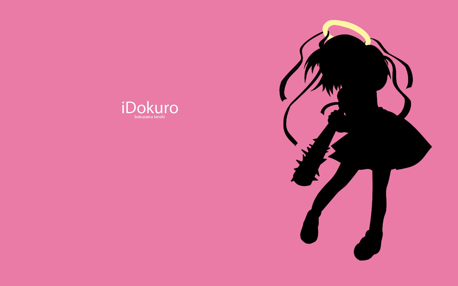 angel bokusatsu_tenshi_dokuro-chan dokuro ipod parody pink silhouette