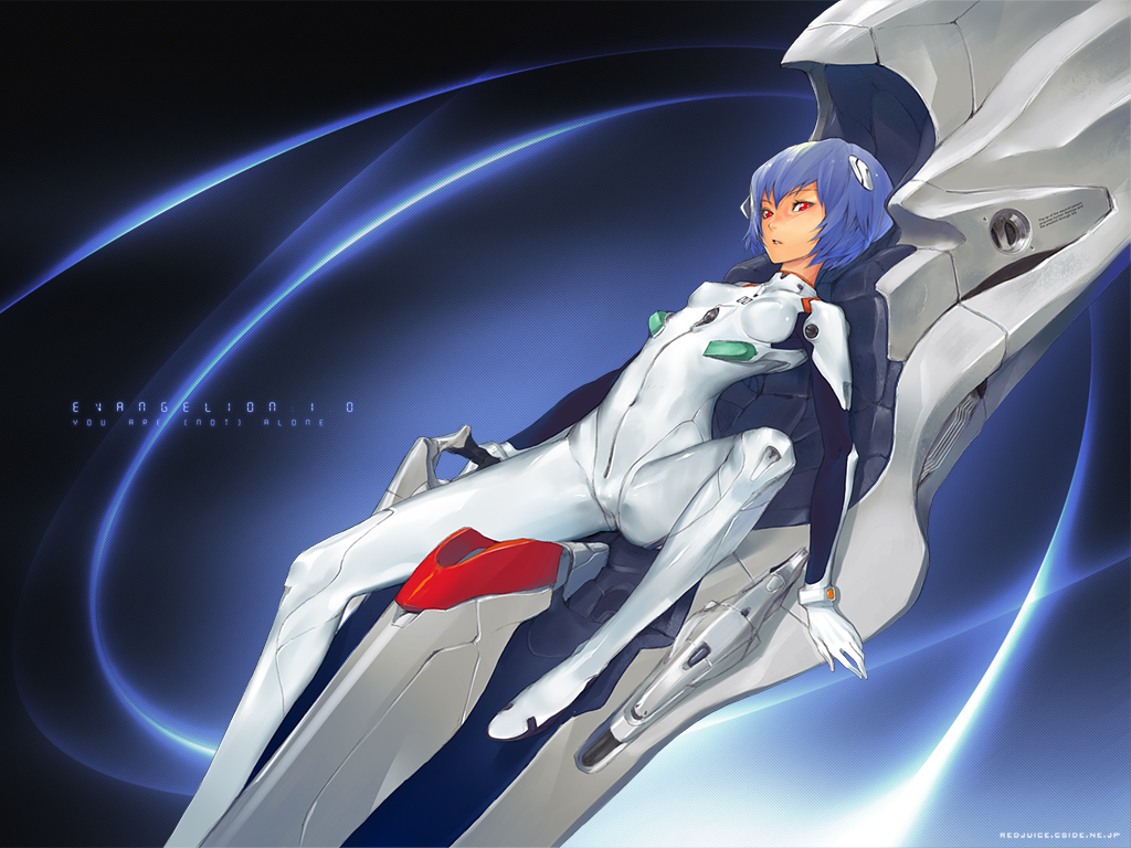 ayanami_rei blue_hair bodysuit neon_genesis_evangelion red_eyes redjuice skintight