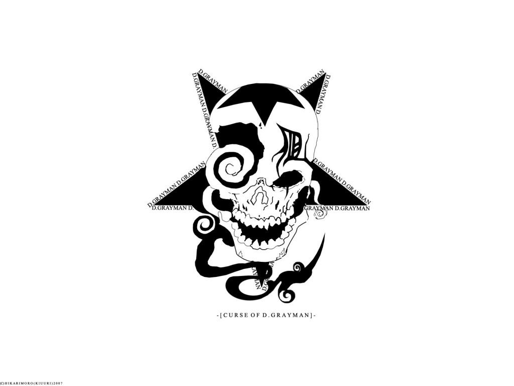 d.gray-man logo white