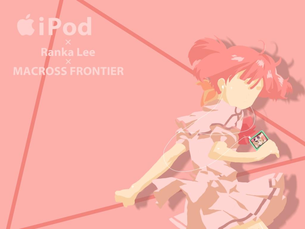 ipod macross macross_frontier parody pink ranka_lee