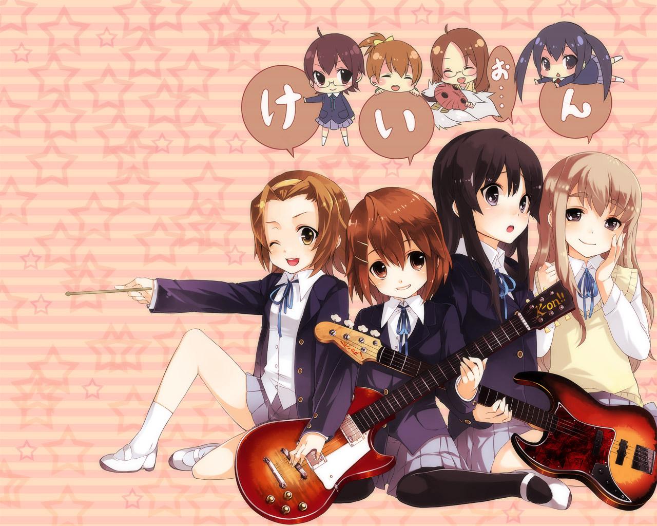 akiyama_mio guitar hirasawa_ui hirasawa_yui instrument k-on! kotobuki_tsumugi manabe_nodoka nakano_azusa tainaka_ritsu yamanaka_sawako