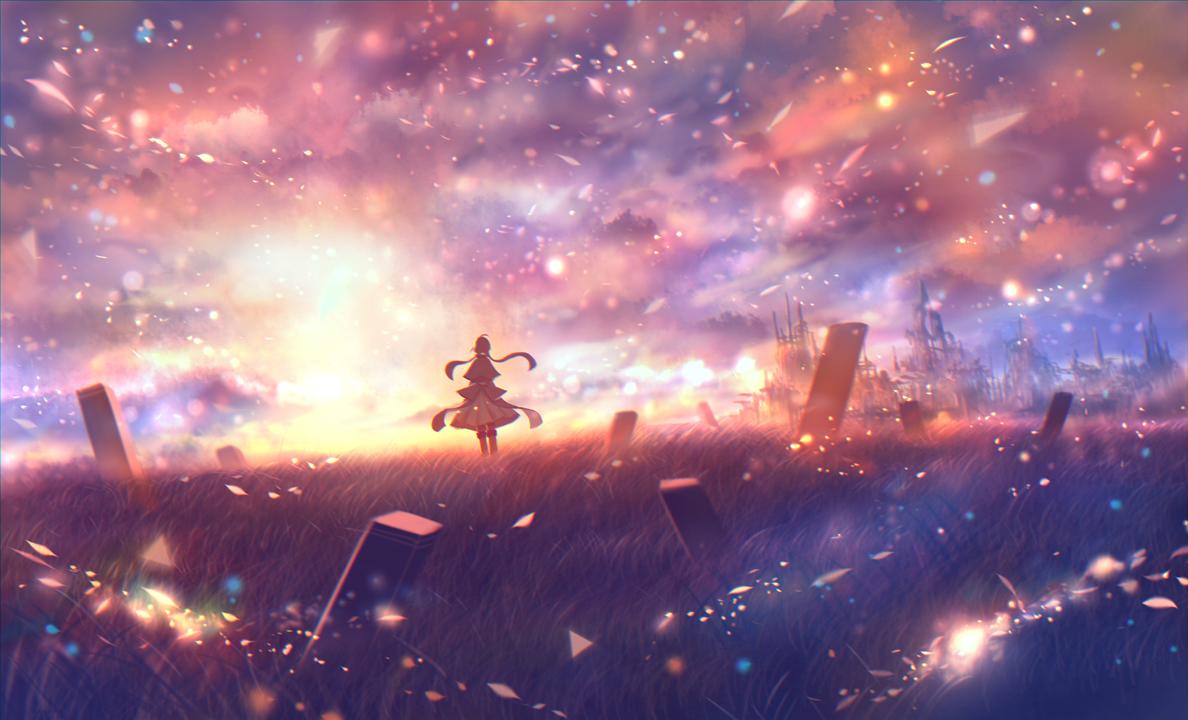 bou_nin clouds grass original polychromatic scenic
