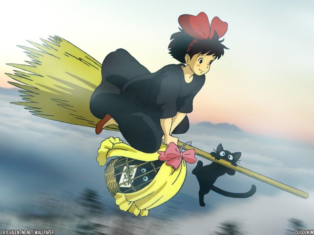 animal cat jiji_(character) kiki majo_no_takkyuubin witch
