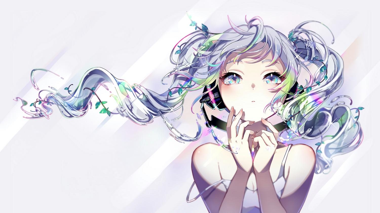 hatsune_miku long_hair nou twintails vocaloid