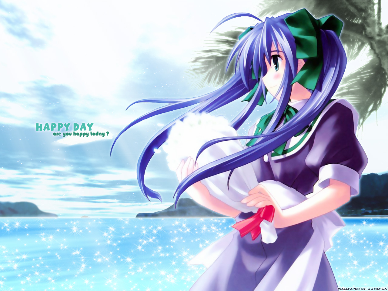 blue_hair green_eyes narukaze_minamo seifuku twintails wind_a_breath_of_heart