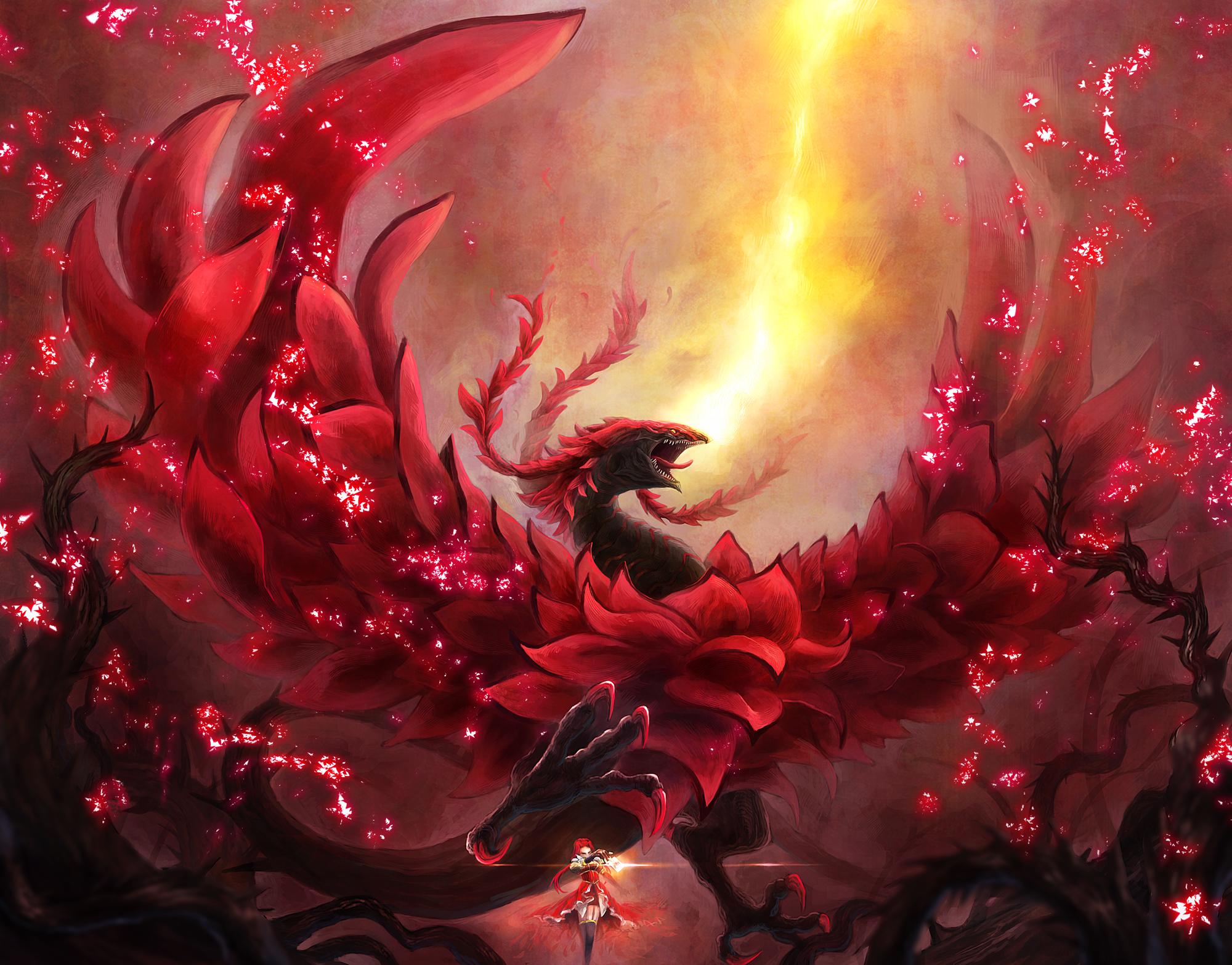 Black rose dragon dragon dress izayoi aki magic red hair for Do black roses really exist