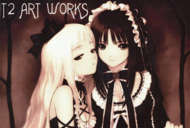 2girls goth-loli lolita_fashion taka_tony