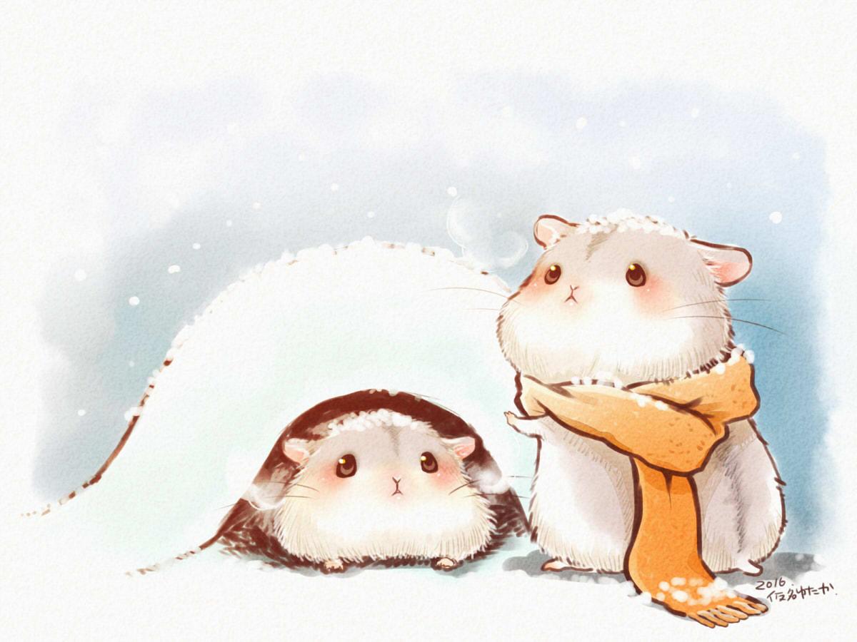 animal blush nobody original scarf signed snow yutaka_kana