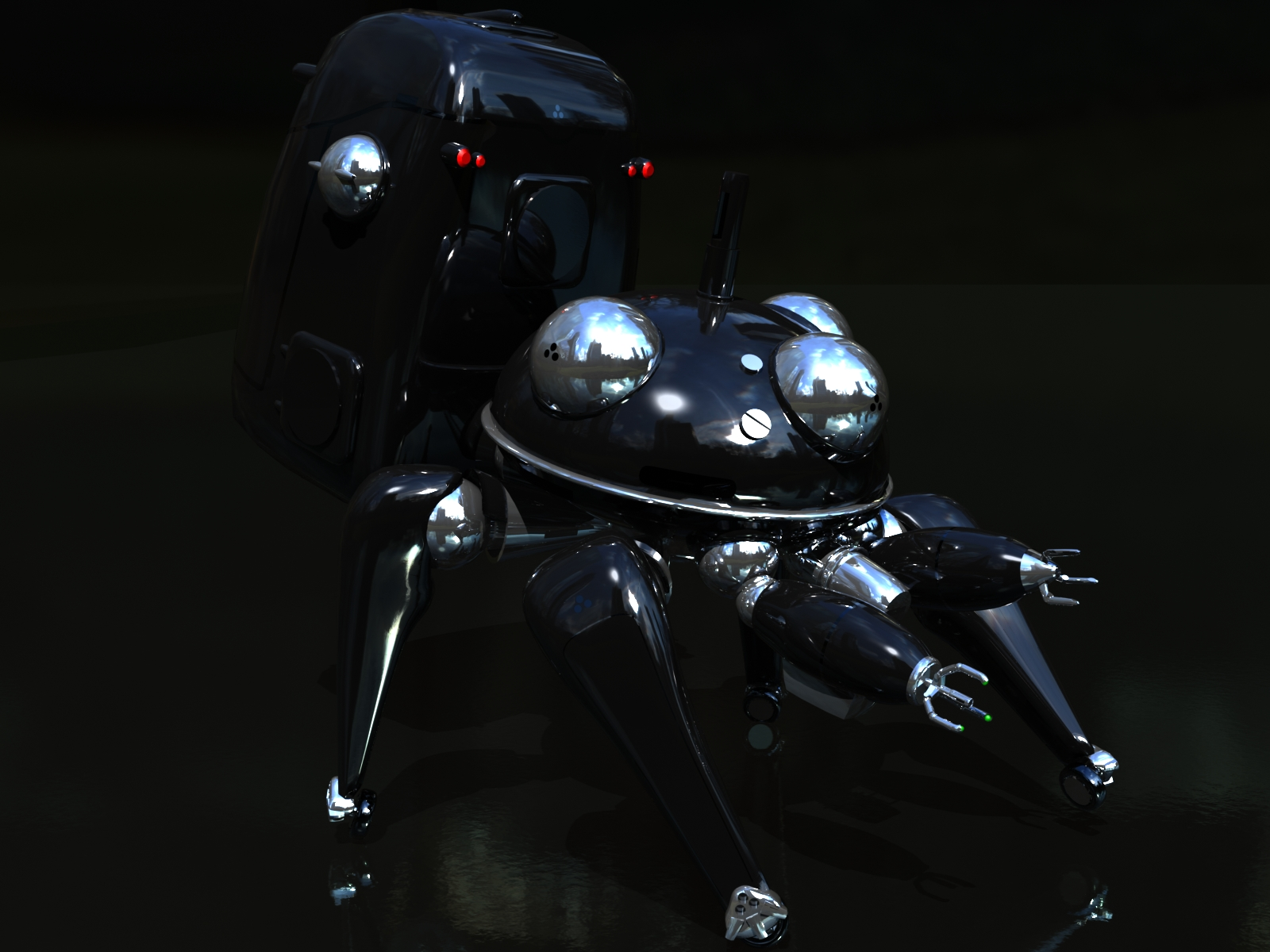 3d black ghost_in_the_shell tachikoma