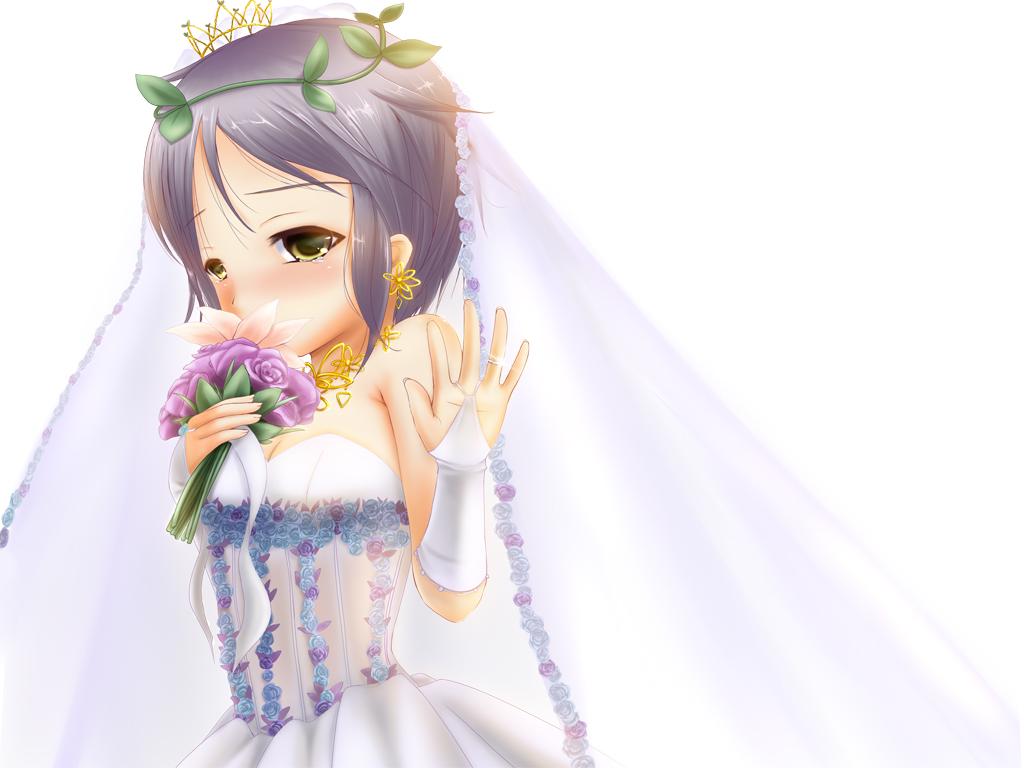 nagato_yuki suzumiya_haruhi_no_yuutsu wedding_attire white