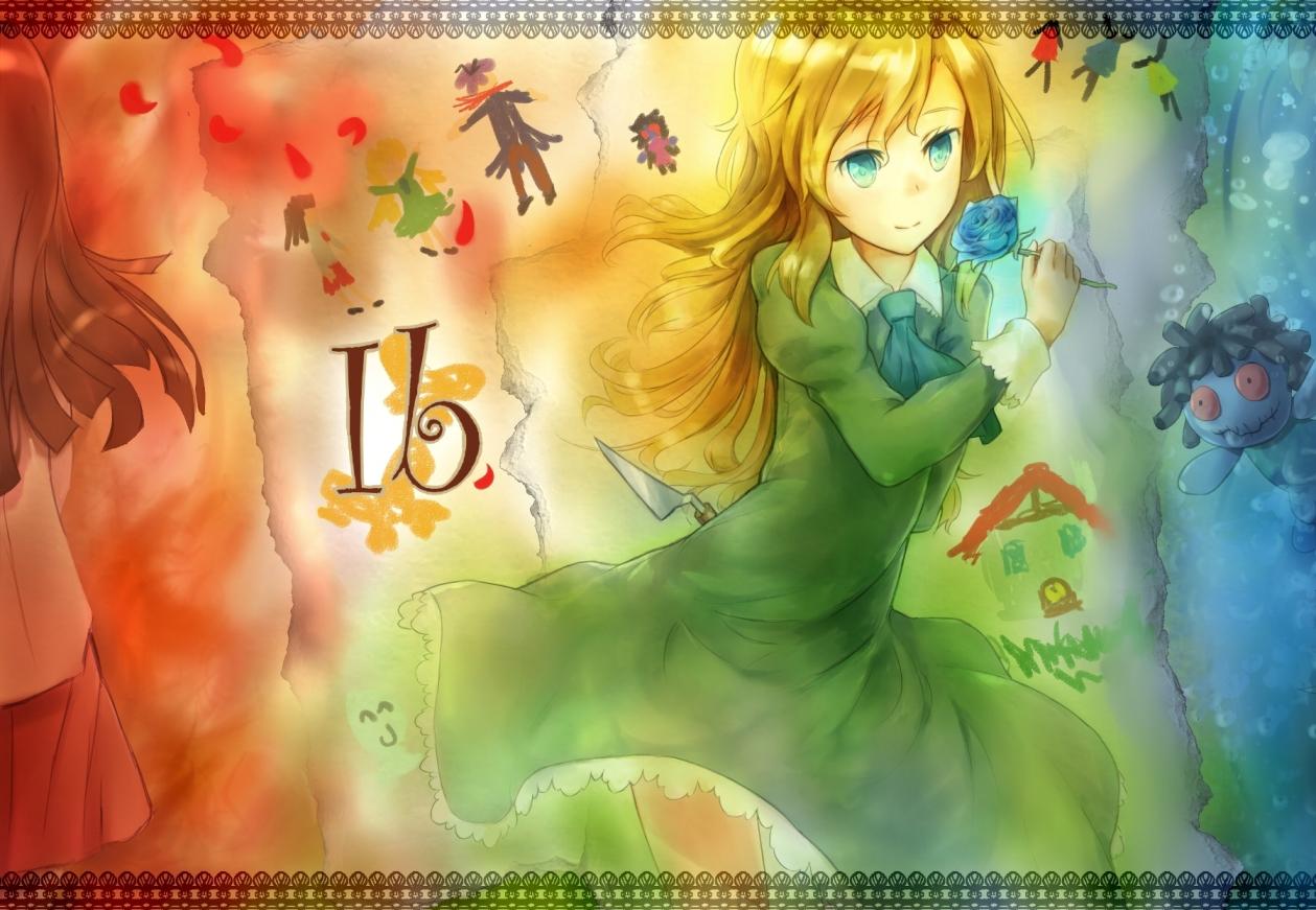 blonde_hair doyou_tengoku_pikaraji ib mary_(ib)