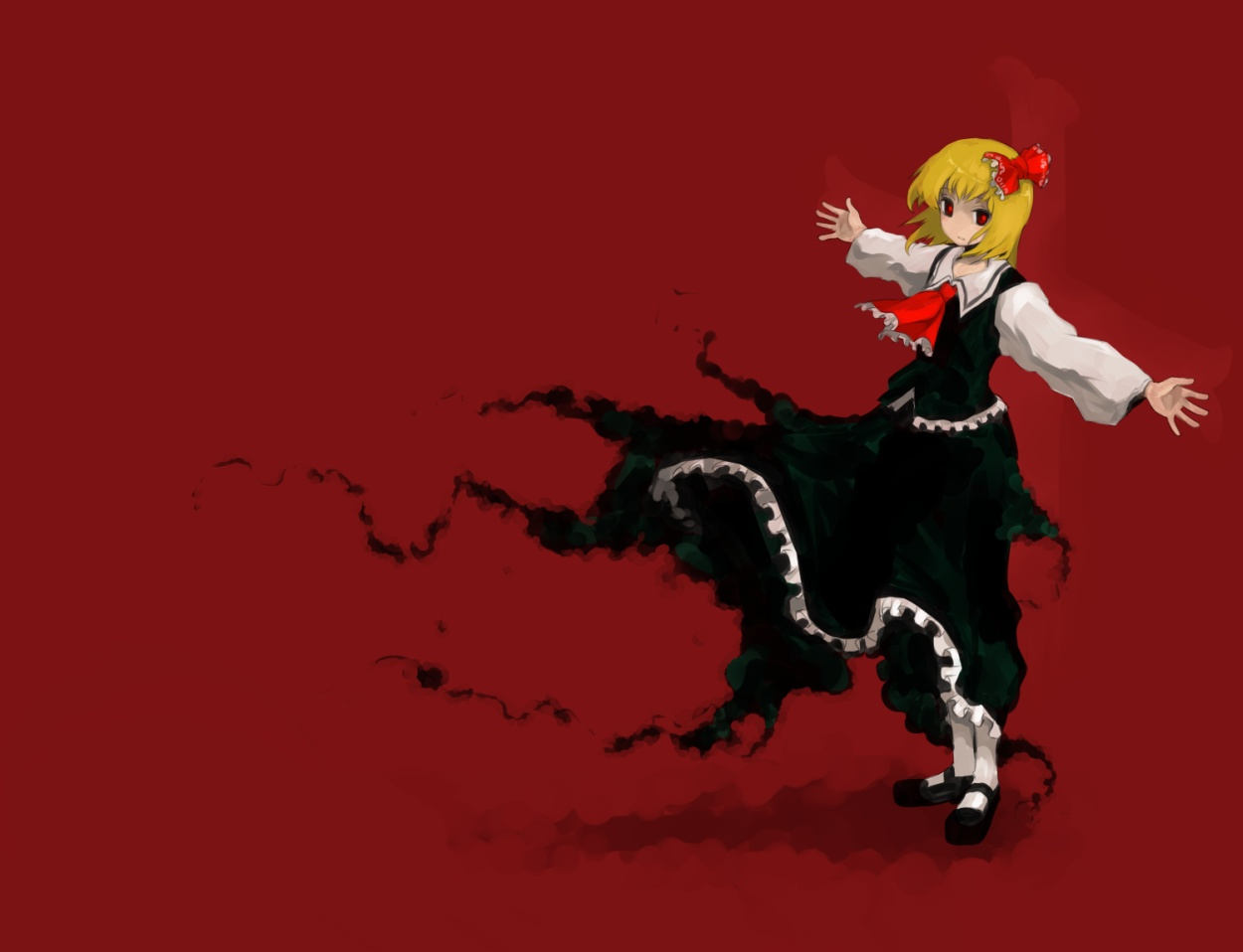 blonde_hair cross oso red_eyes rumia short_hair touhou