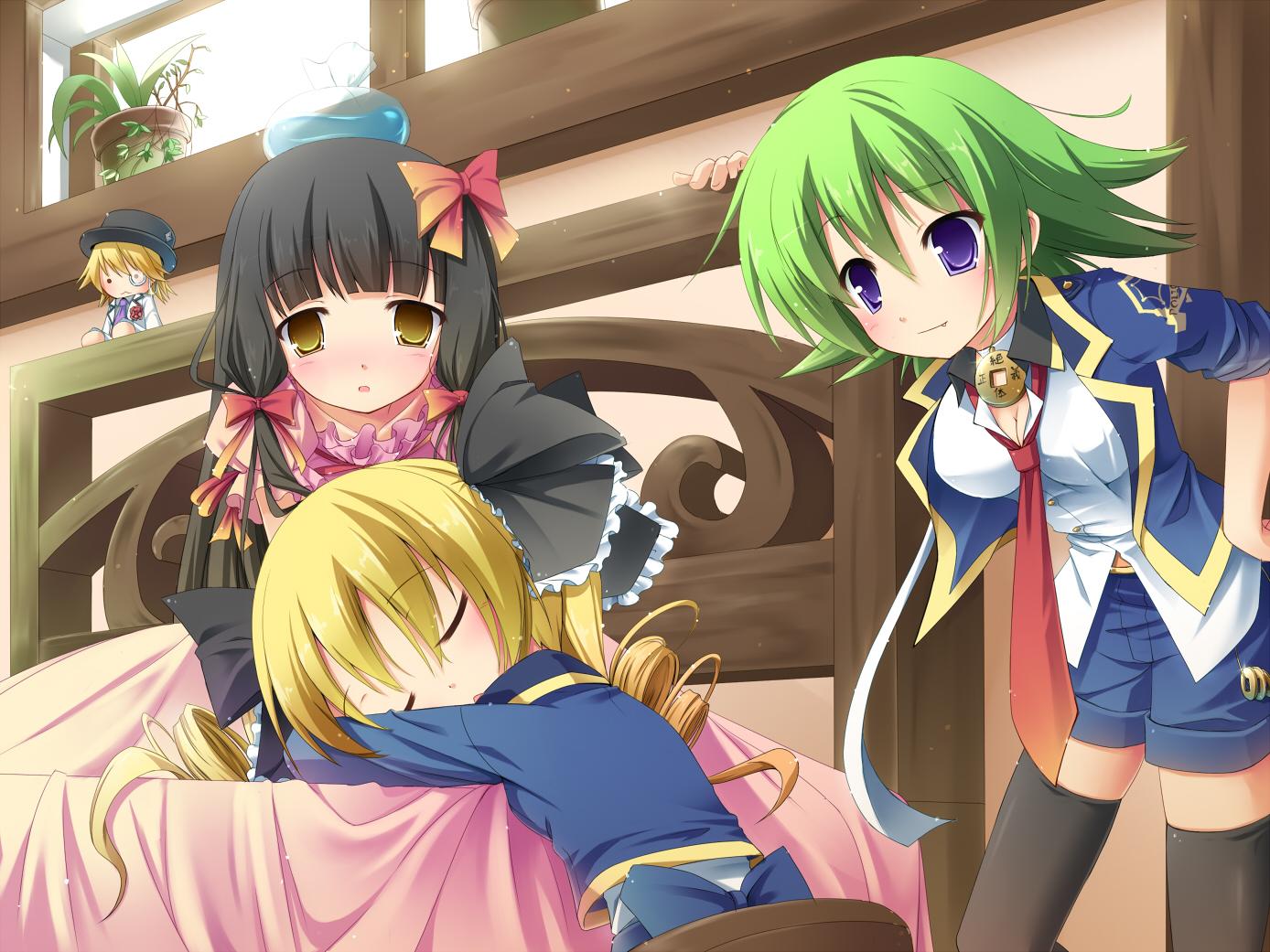 akechi_kokoro hasegawa_hirano masaki_(machisora) tantei_opera_milky_holmes twenty_(character) zenigata_tsugiko