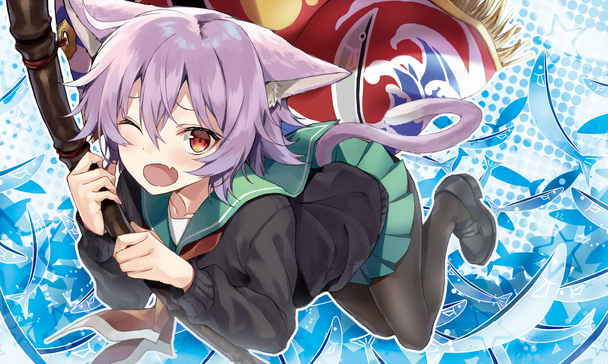 Image 1429: animal_ears animal_tail anime blush catgirl