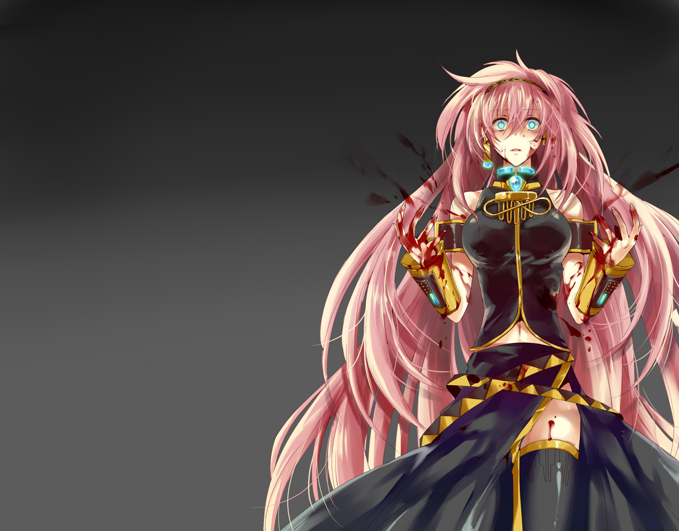 blood blue_eyes megurine_luka pink_hair vocaloid