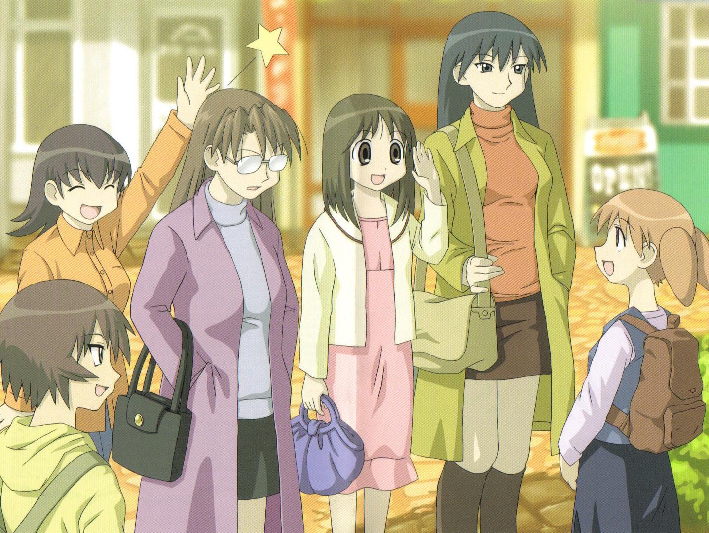 azumanga_daioh group kagura kasuga_ayumu mihama_chiyo mizuhara_koyomi sakaki takino_tomo
