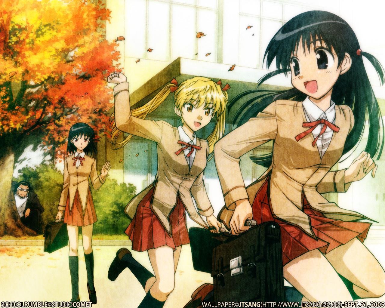 autumn harima_kenji sawachika_eri school_rumble tsukamoto_tenma tsukamoto_yakumo