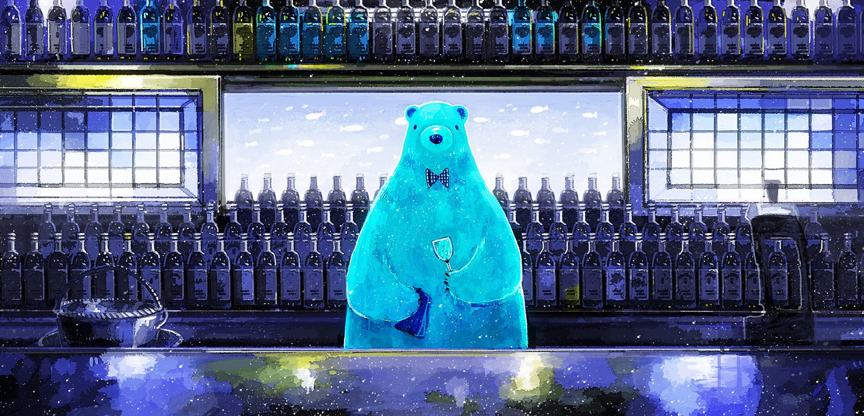 animal bear drink nomiya_(no_38) original