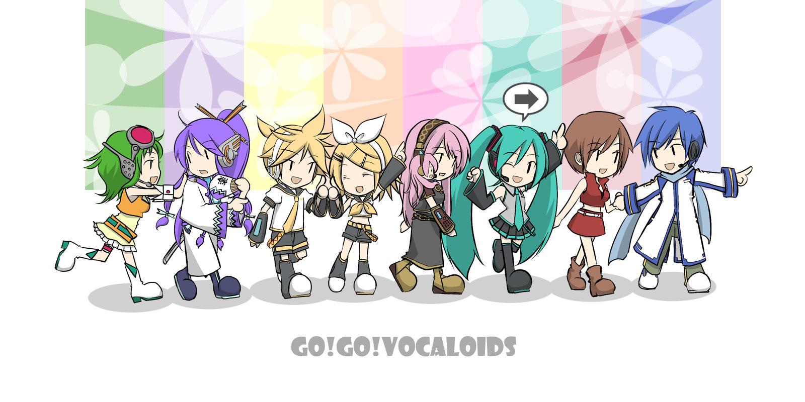 Vocaloid Chibi Group Wallpaper chibi group gumi hatsu...