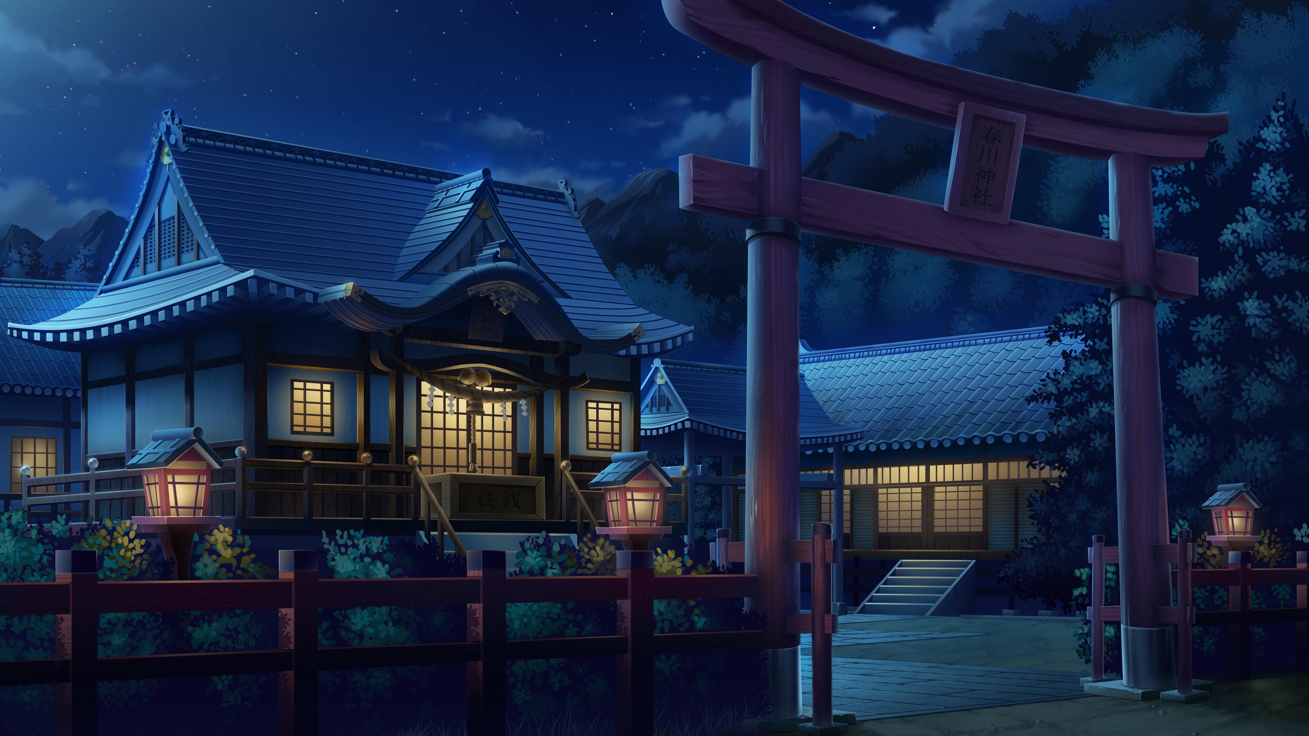Building Night Nobody Original Scenic Tonchan Torii