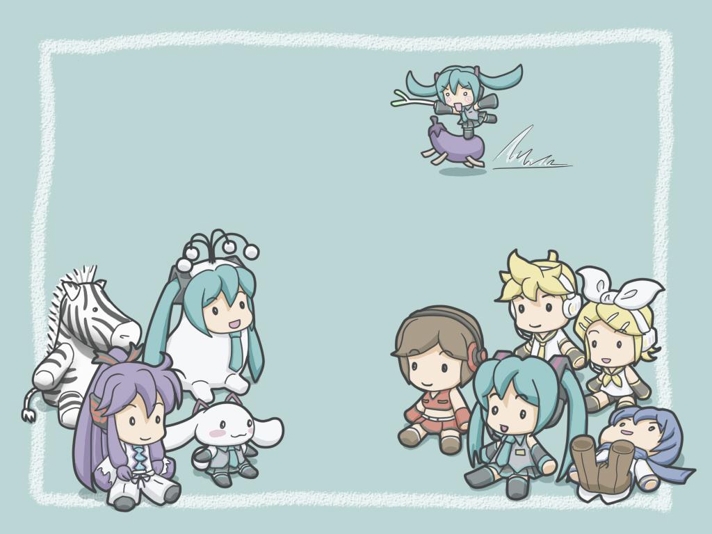 Vocaloid Chibi Group Wallpaper chibi group hachune mi...