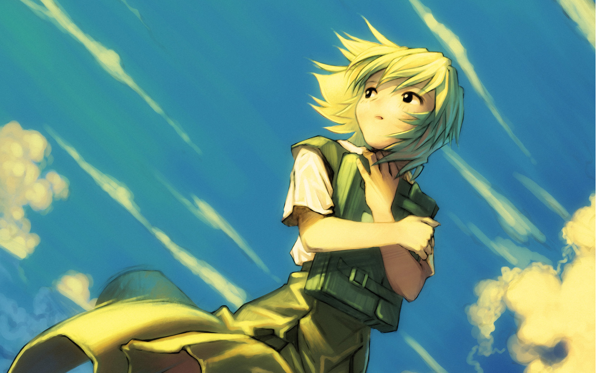 ayanami_rei kobayashi_yuji neon_genesis_evangelion short_hair sky