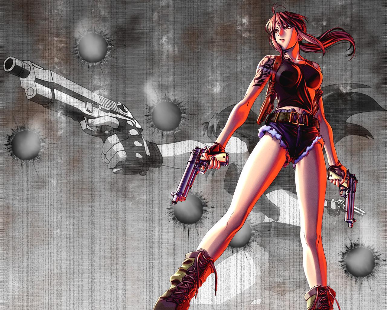black_lagoon gun revy weapon