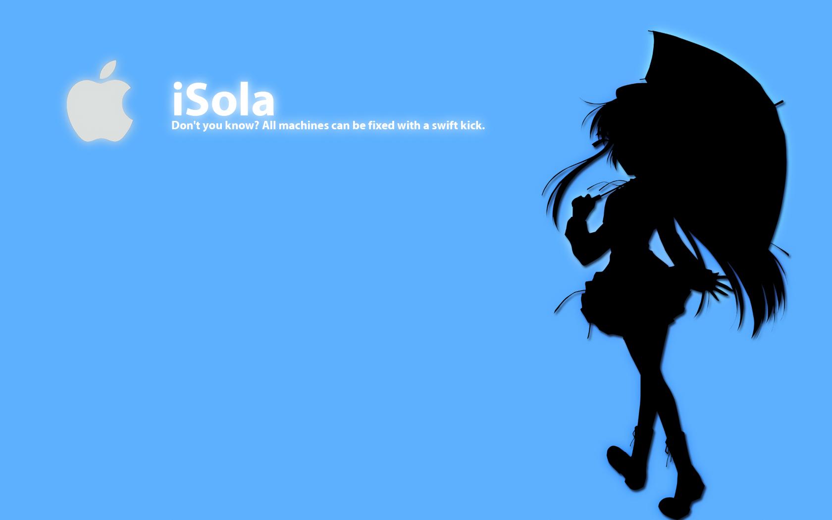 blue ipod polychromatic shihou_matsuri silhouette sola